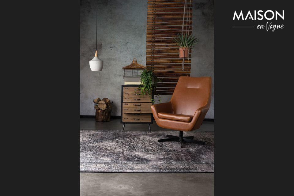 Sober en visueel doeltreffend, past het in een industriële decoratie en in een Scandinavische sfeer
