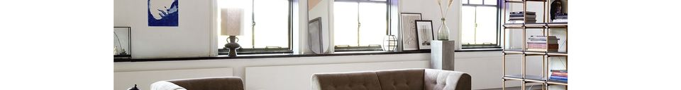 Benadrukte materialen Lampvoet Curgyen steengoed antraciet maat L