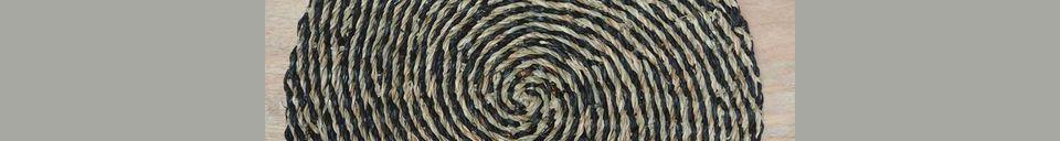 Benadrukte materialen Laveyron spiraalvormige placemat in natuurlijke zeeslag