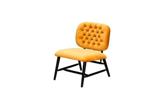 Lempty low back ochre gestoffeerde fauteuil