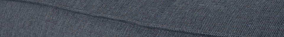 Benadrukte materialen Linker hoekbank Vet Freddy grijsblauw