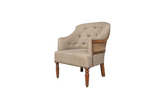 Linnen en jute fauteuil Valbelle
