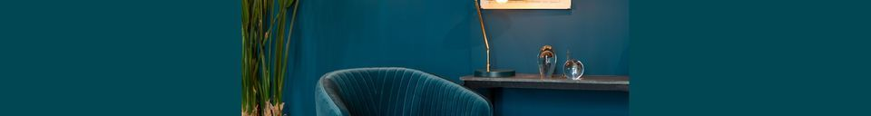 Benadrukte materialen Lounge chair Dolly Blue