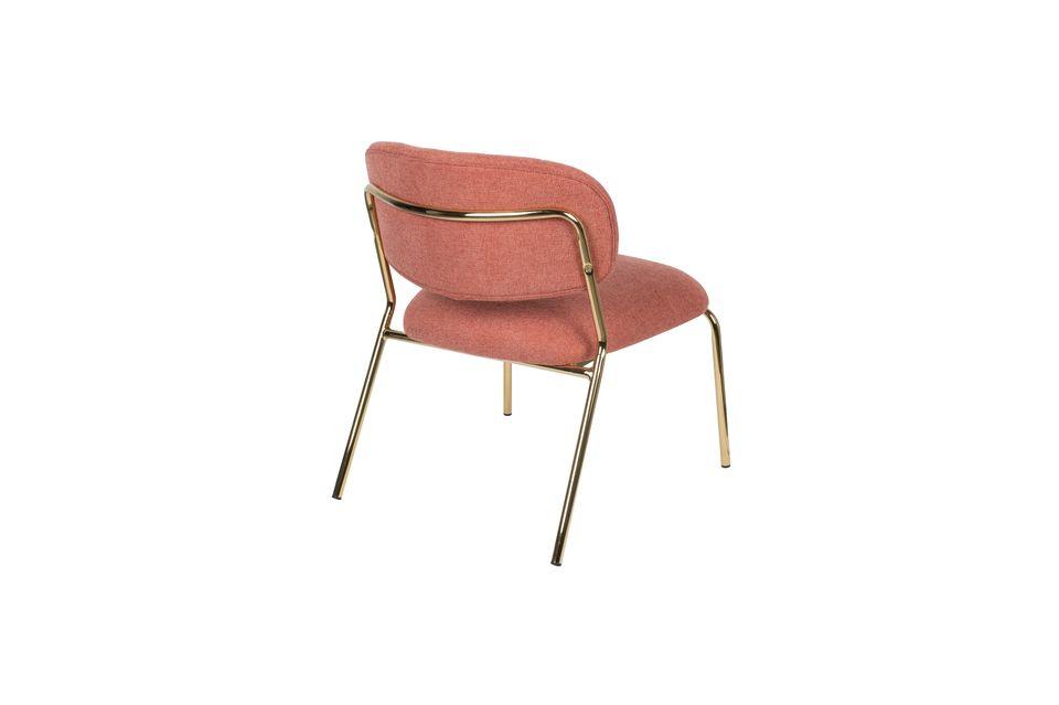 Lounge chair Jolien goud en roze - 7