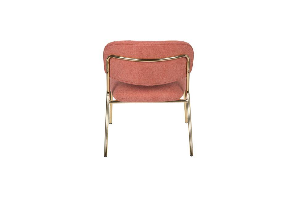 Lounge chair Jolien goud en roze - 8