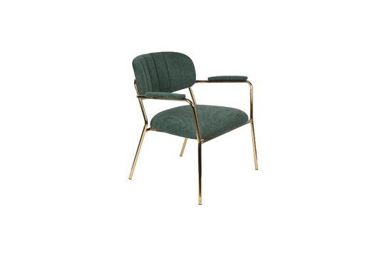 Lounge chair Jolien met gouden en donkergroene armleuningen Productfoto