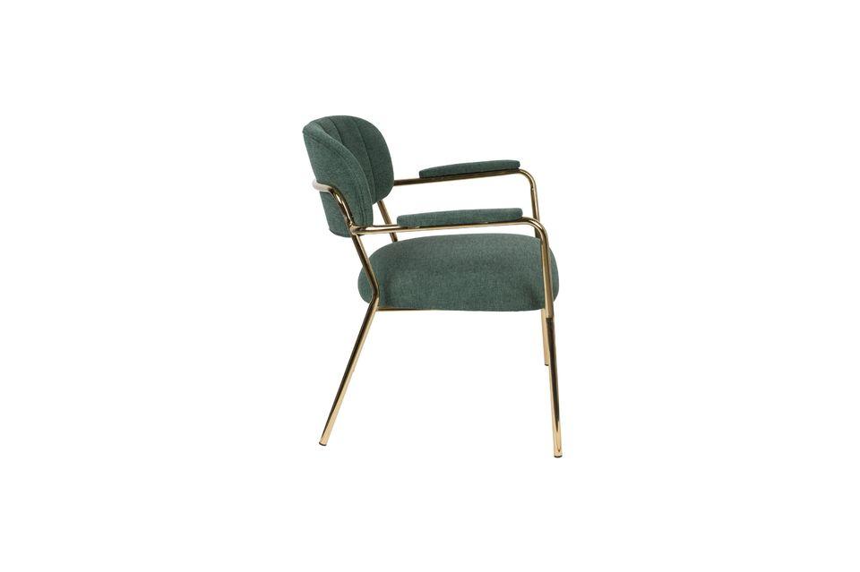 Lounge chair Jolien met gouden en donkergroene armleuningen - 6