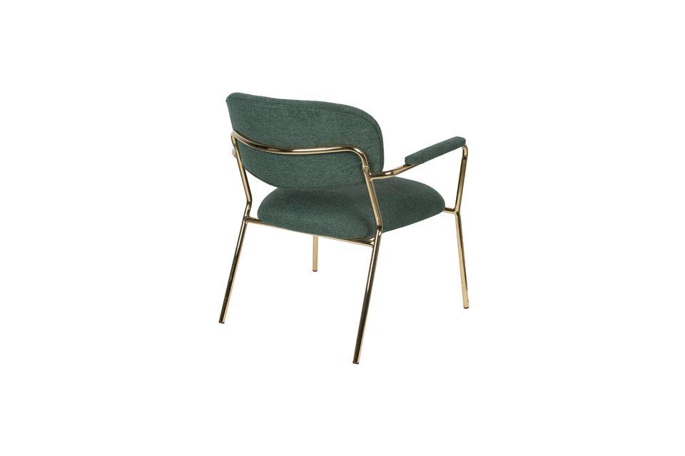 Lounge chair Jolien met gouden en donkergroene armleuningen - 7