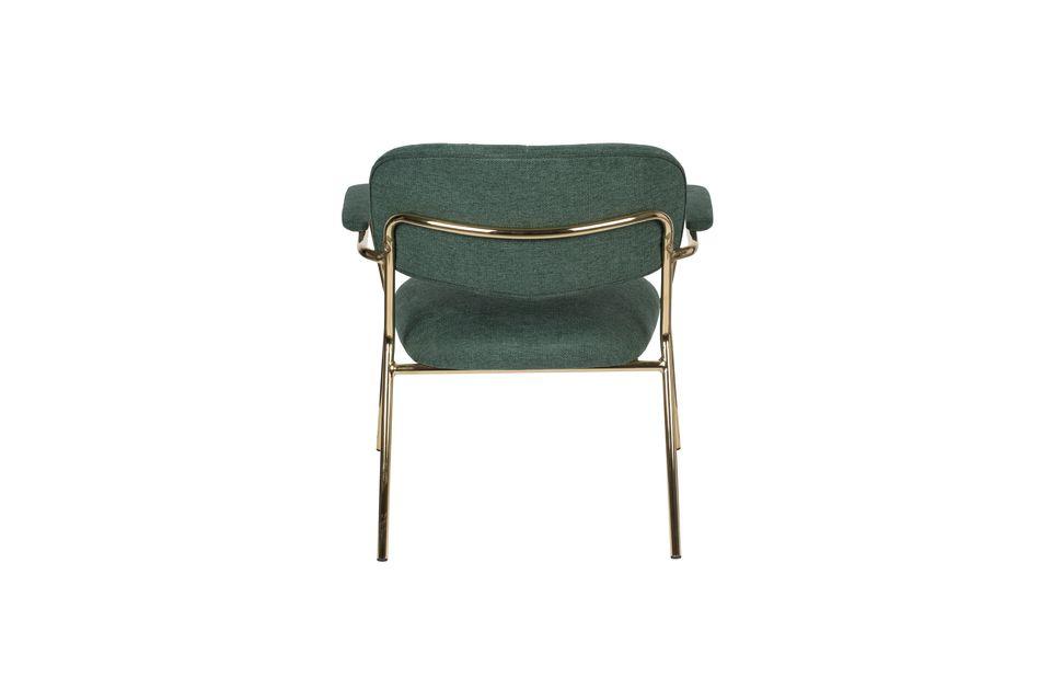 Lounge chair Jolien met gouden en donkergroene armleuningen - 8