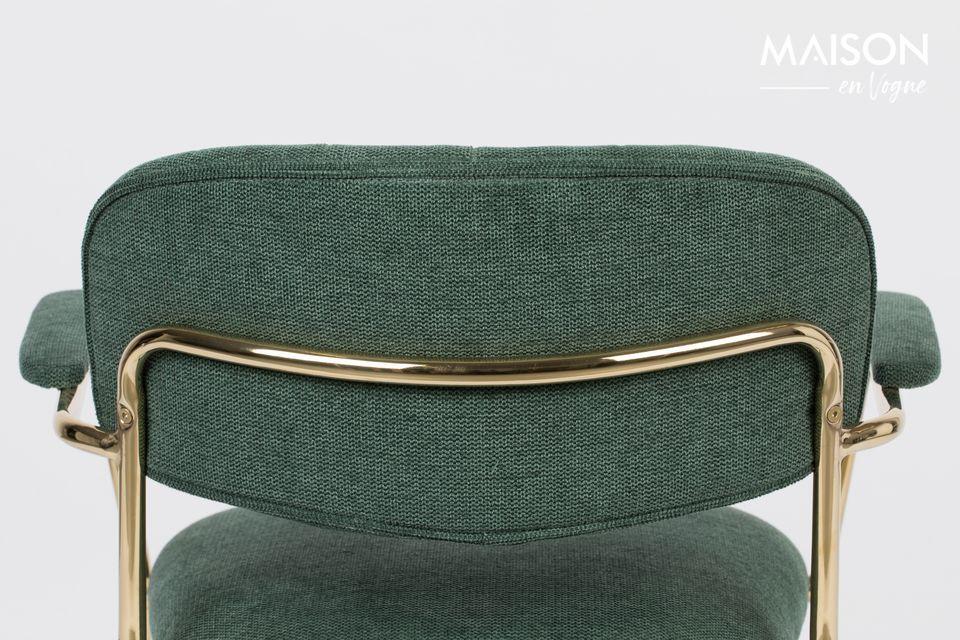 Deze mooie, ruime en comfortabele stoel is een mix van polyester (95%) en nylon (5%)