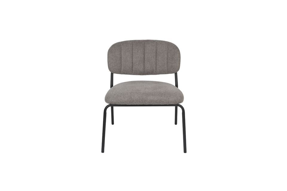 Lounge chair Jolien zwart en grijs - 6