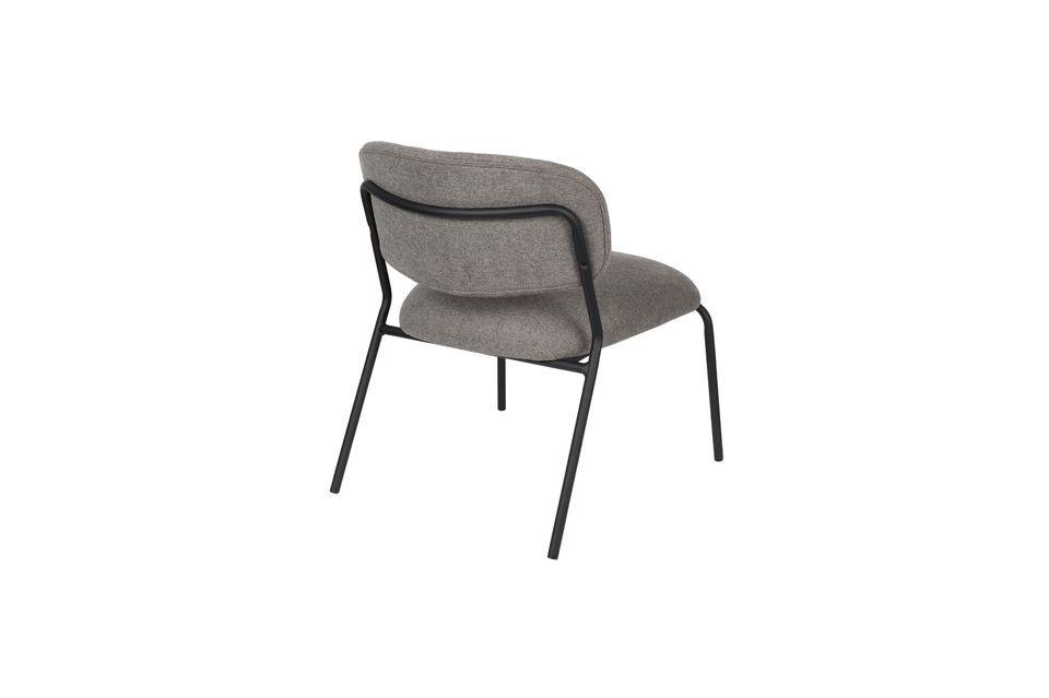 Lounge chair Jolien zwart en grijs - 8