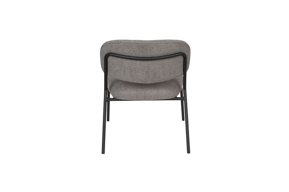 Lounge chair Jolien zwart en grijs - 9