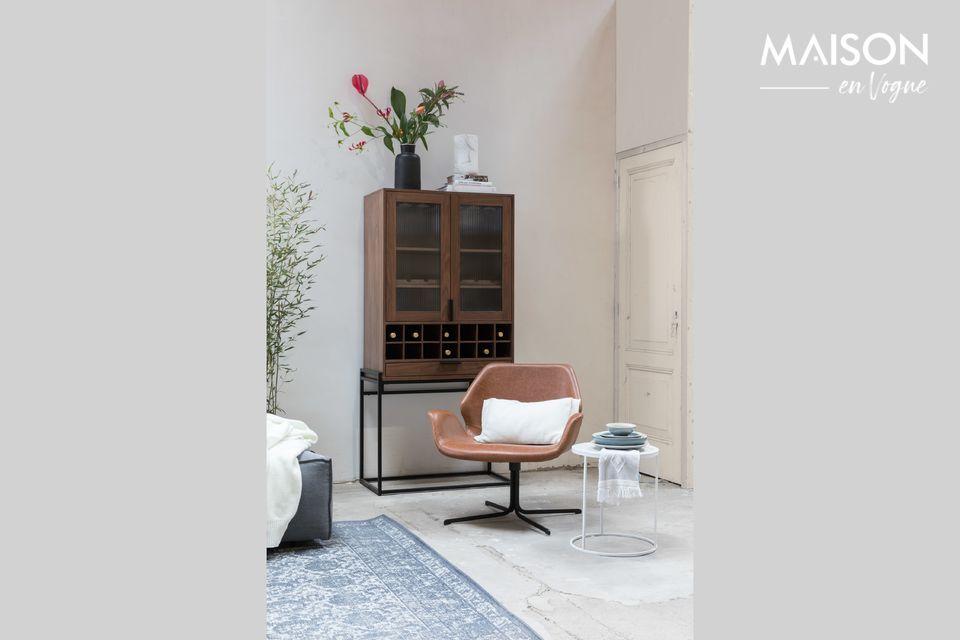 Elegante PU-leren loungestoel