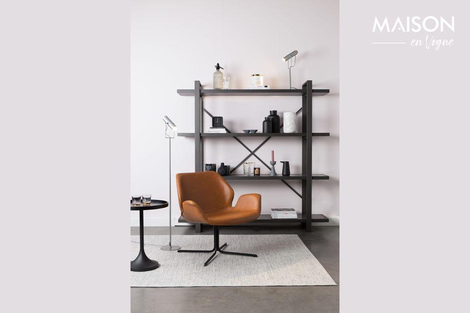 Lounge stoel nikki bruin Zuiver