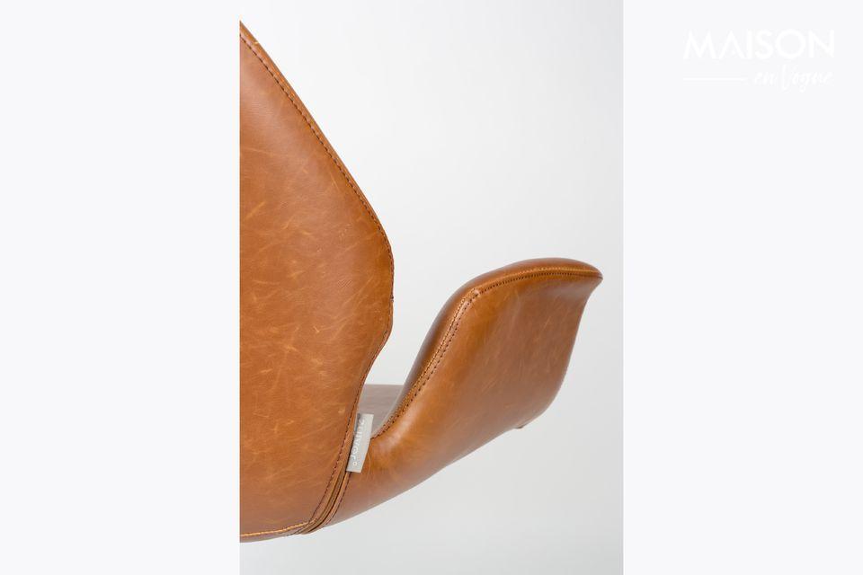 Lounge stoel nikki bruin - 4