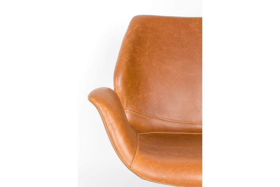 Lounge stoel nikki bruin - 5