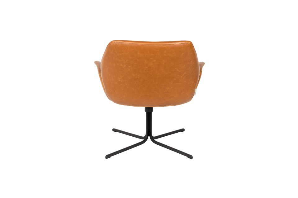 Lounge stoel nikki bruin - 7