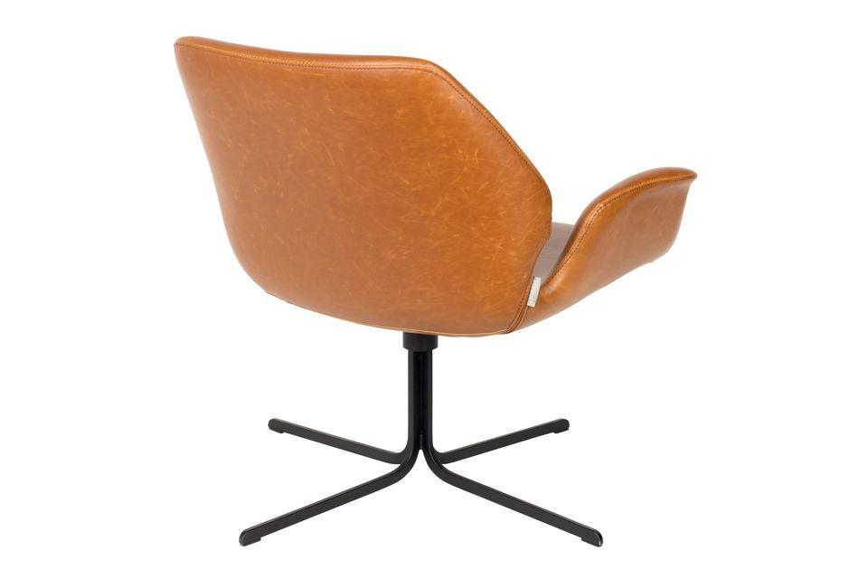 Lounge stoel nikki bruin - 8