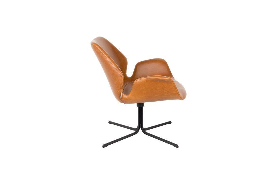 Lounge stoel nikki bruin - 9