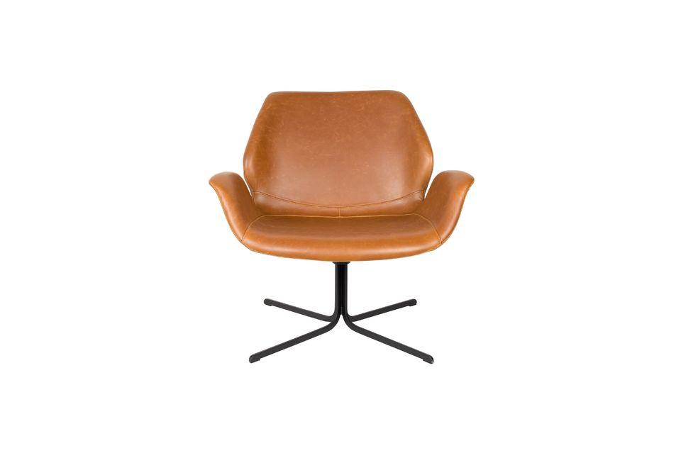 Lounge stoel nikki bruin - 10