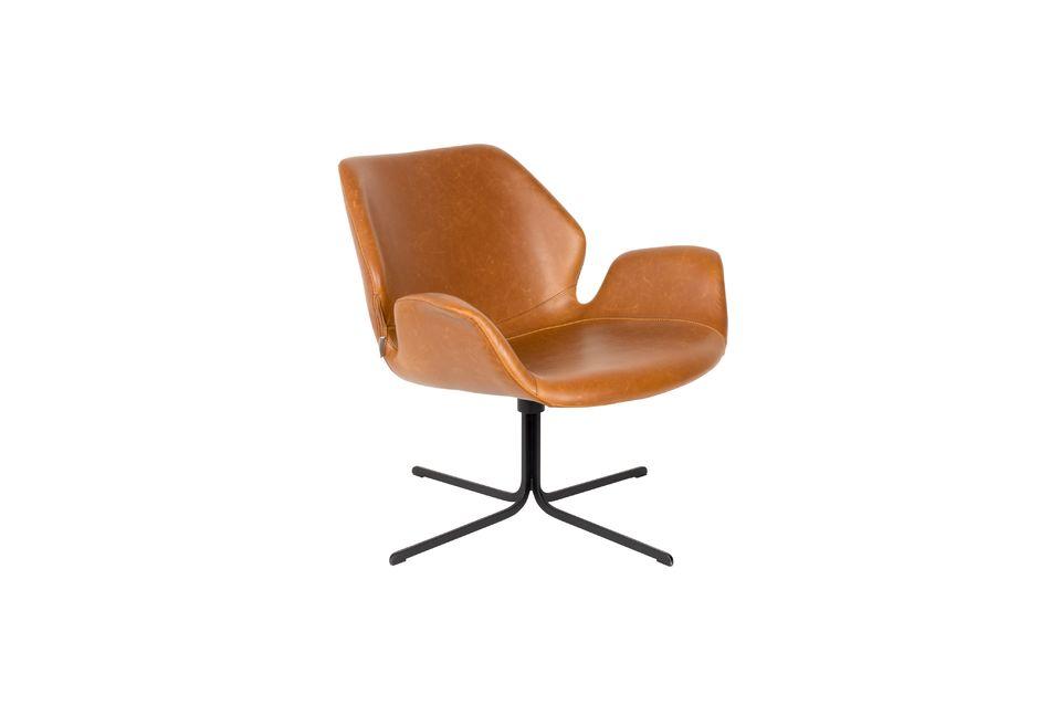 Lounge stoel nikki bruin - 6