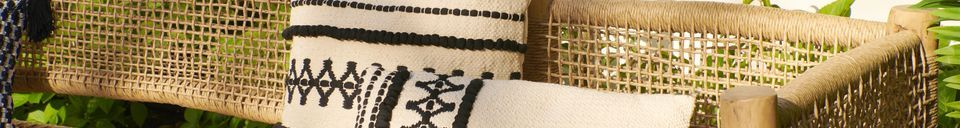 Benadrukte materialen Marrakech katoenen kussen