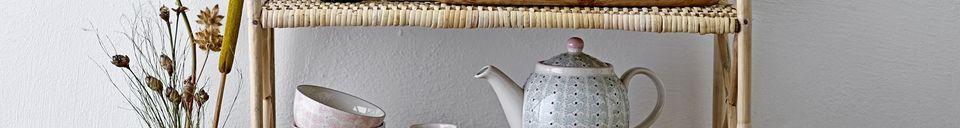 Benadrukte materialen Maya steengoed theepot
