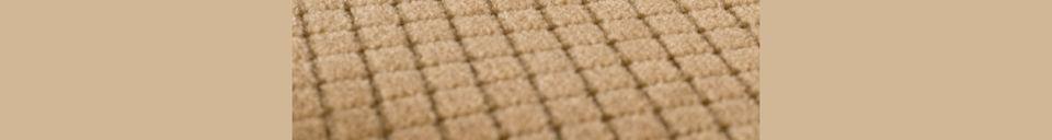 Benadrukte materialen Melonie zandkleurige stoel