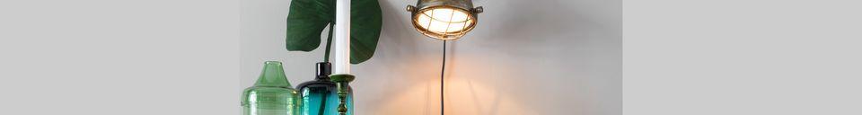 Benadrukte materialen Messing Evan Wandlamp
