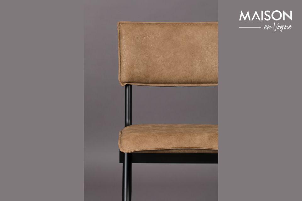 Nieuwe Willow Mocha stoel in splitleder - 4