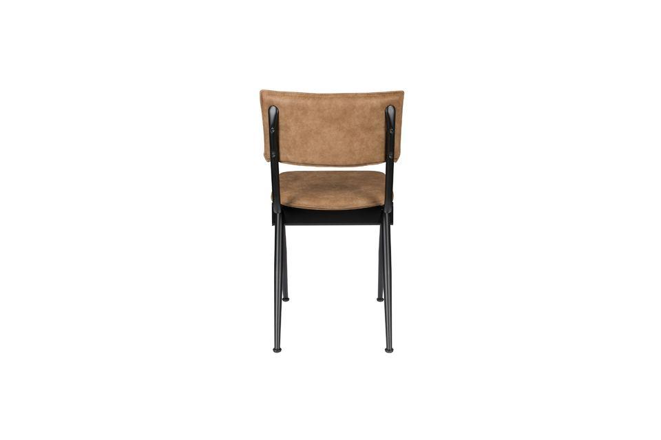 Nieuwe Willow Mocha stoel in splitleder - 5