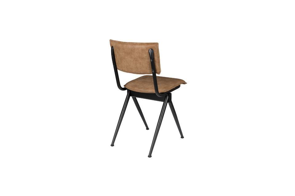 Nieuwe Willow Mocha stoel in splitleder - 6