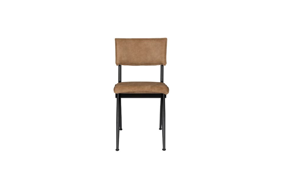 Nieuwe Willow Mocha stoel in splitleder - 8