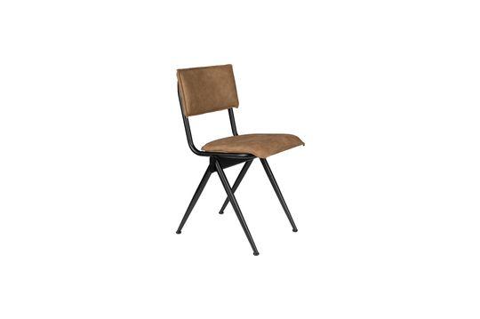 Nieuwe Willow Mocha stoel in splitleder Productfoto