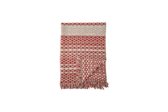 Noilhan plaid in rood gerecycled katoen Productfoto