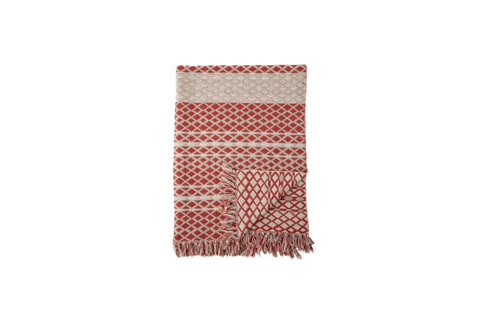 Noilhan plaid in rood gerecycled katoen