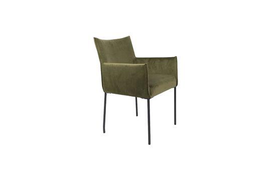 Olijfgroene fluwelen Dion-fauteuil Productfoto