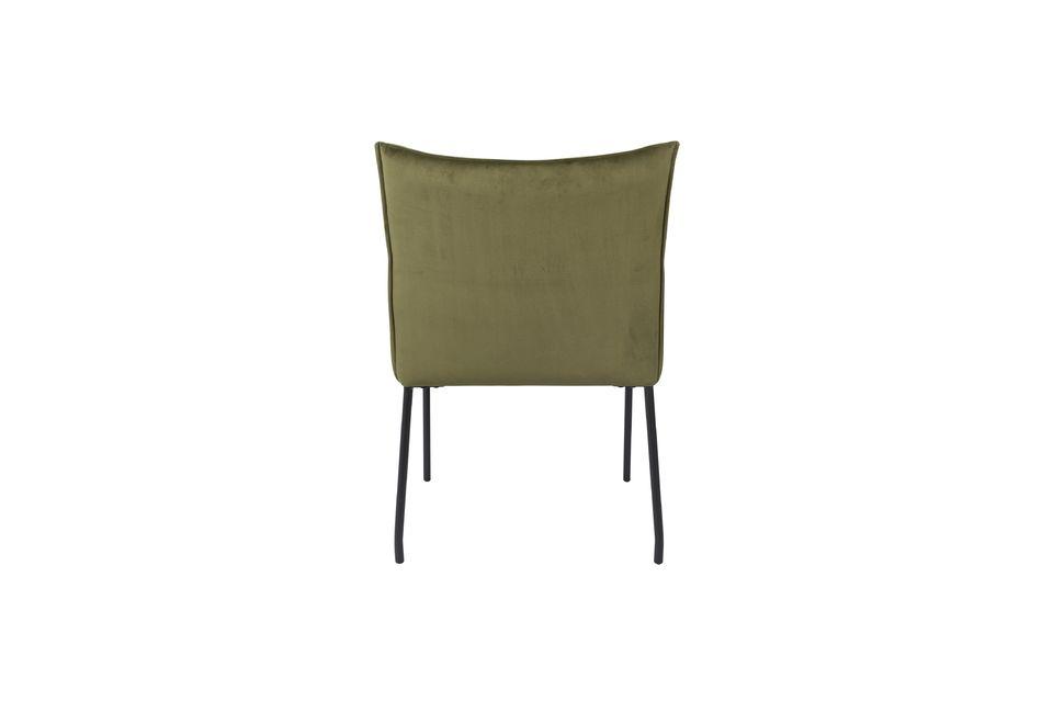 Olijfgroene fluwelen Dion-fauteuil - 8