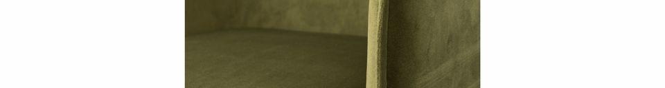Benadrukte materialen Olijfgroene fluwelen Dion-fauteuil