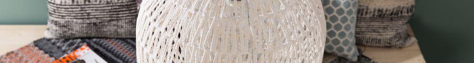 Benadrukte materialen Ophangkabel 40 Wit