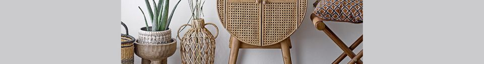 Benadrukte materialen Otto Rattan Garderobe