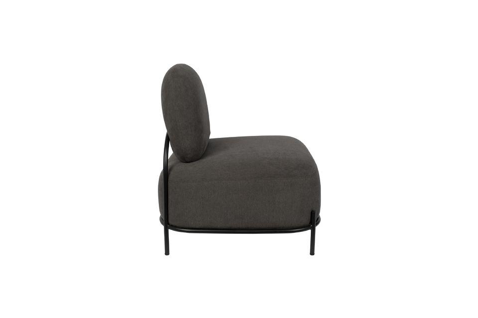Polly grijze loungestoel - 5
