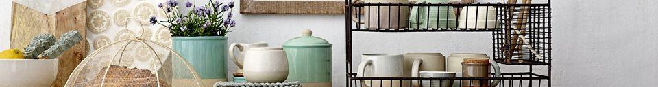 Benadrukte materialen Pot met deksel Groot