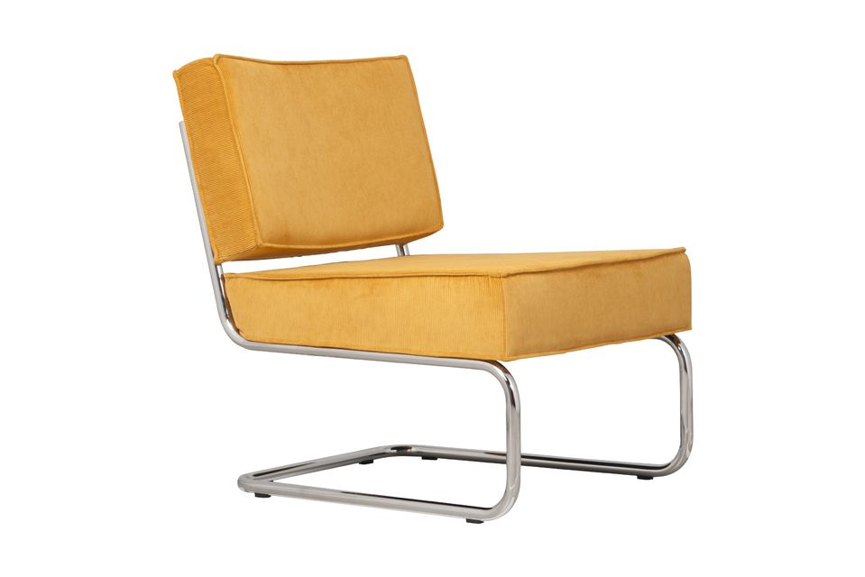 Rib Lounge Chair Geel Zuiver