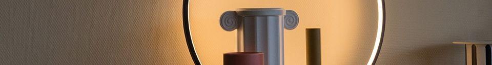 Benadrukte materialen Ronde Collat-tafel lamp