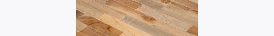 Benadrukte materialen Ronde Doolhoftafel natuurlijke afwerking