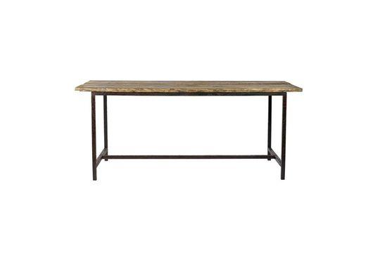 Ruwe eettafel in hout en metaal
