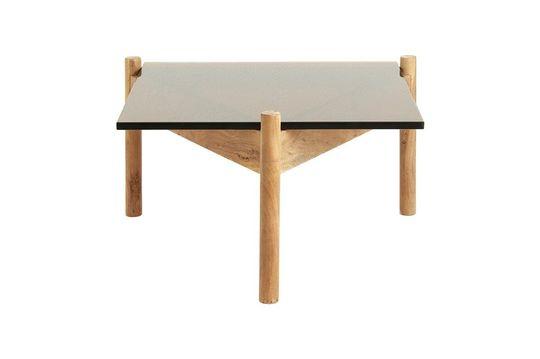 Salontafel in hout en Amberglas Productfoto