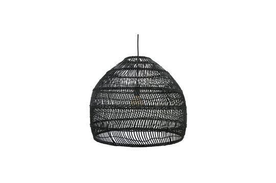 Sancy zwart rieten hanglamp maat M